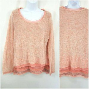 Knitted & Knotted Lagenlook Pink Alpaca Sweater